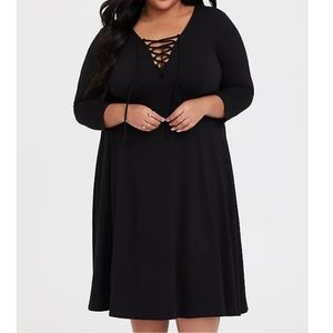 NWT Torrid 2 - sexy laced up corset front dress